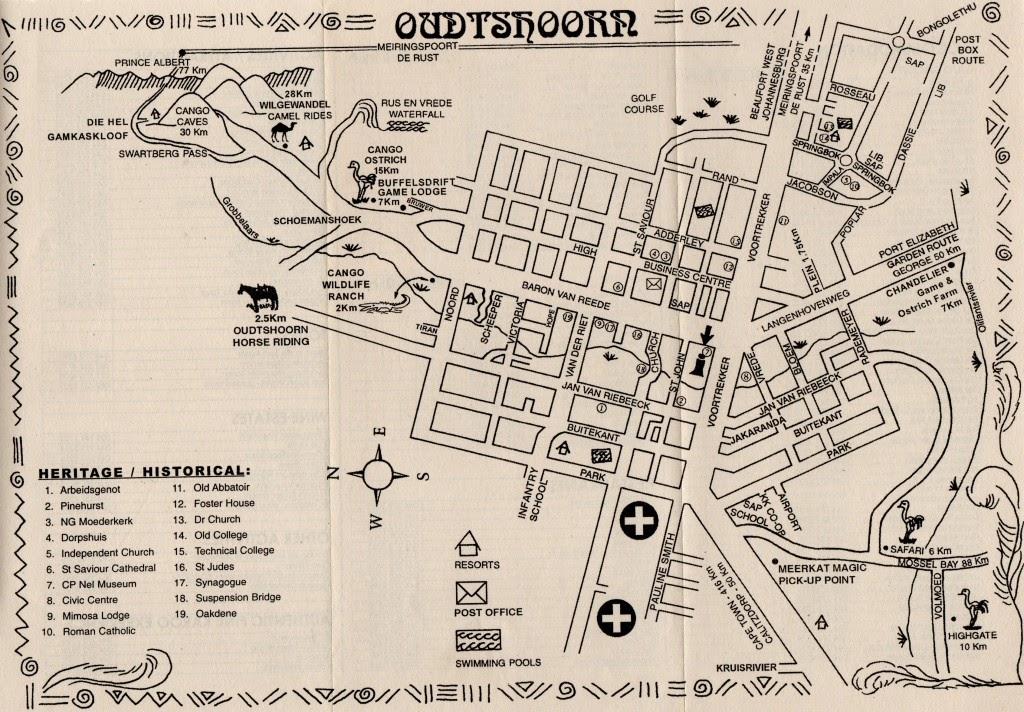 mapa de Oudtshoorn