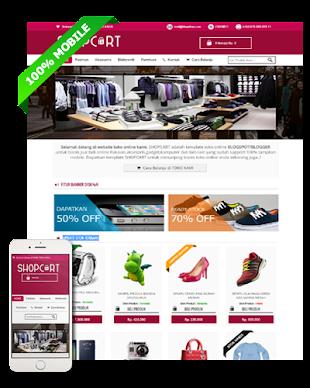Shopcart - Blogspot Template Toko Online