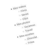Créer des sous-catégories dans le gadget Libellés