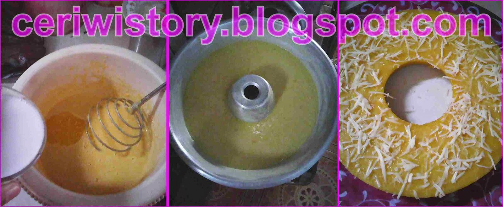 Cara membuat Bolu Jagung tabur keju