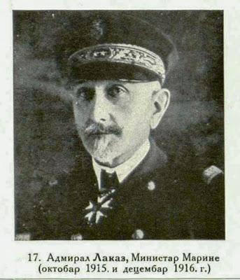 Admiral Lacaze, Naval-Minister (October 1915 December 1916).