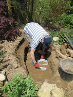 making garden pond