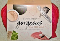 review Gorgeous All the Way Bare MineralVeil Lash Domination mascara full size face eye serum liquid lip color gloss lipstick swatches