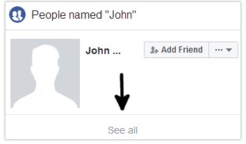 Can I find someone on Facebook only knowing their first name