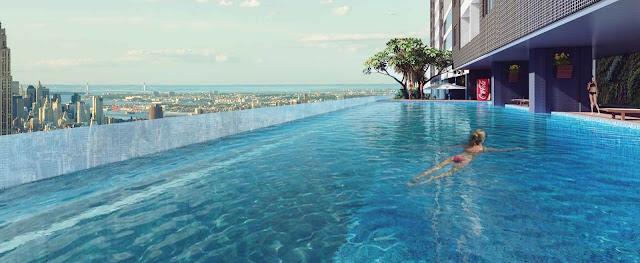 Bể bơi vô cực tại The Golden Palm
