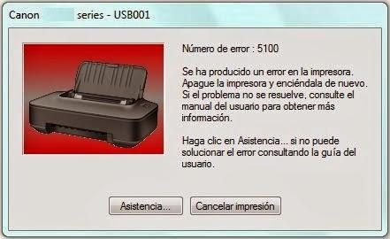 Begini Cara Mengatasi Error 5100 canon ip2770