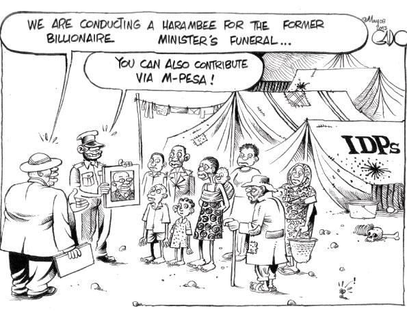 Gado's Hilarious Cartoon on Mutula Kilonzo's Fundraiser