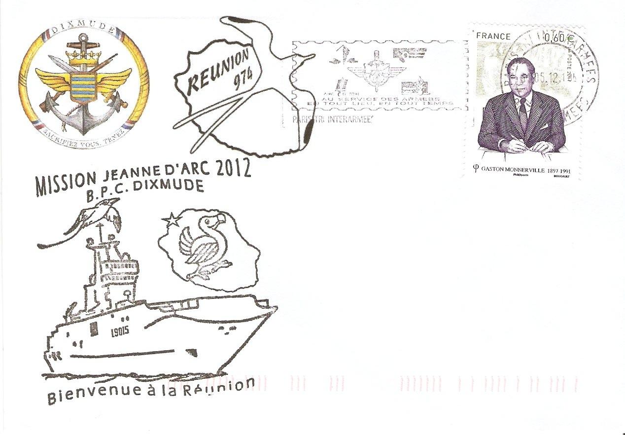 La Marcophilie Navale Mission Jeanne D Arc Bpc Dixmude