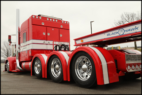 J&L Contracting's 2008 Kenworth W900L named: Never Satisfied