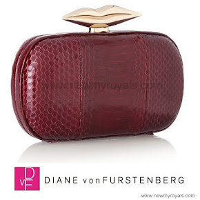 Queen Mathilde style DIANE VON FURSTENBERG Clutch bag
