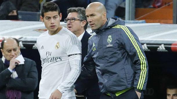 Zidane habría perdido las esperanzas en ver al mejor James