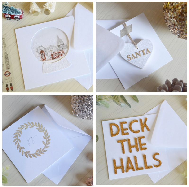 DIY Christmas | 4 Christmas Card Ideas | The Things She Makes