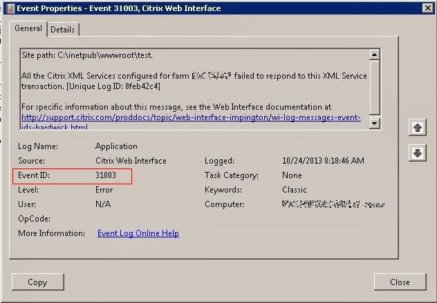 Error on Citrix Web Interface - Credential Error ~ Datakraf NZ