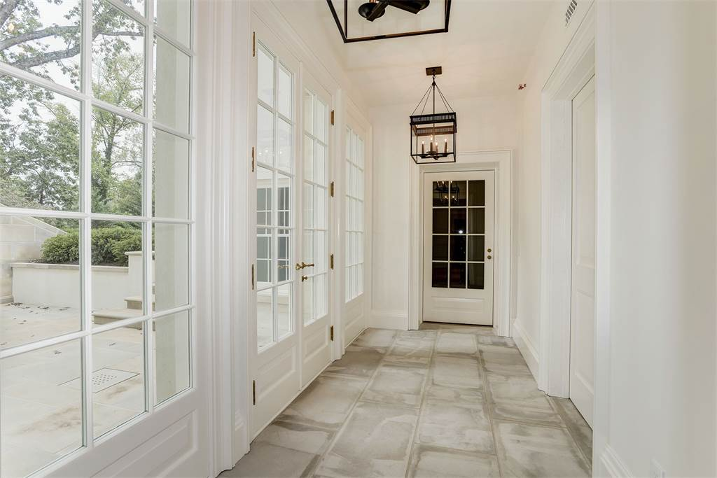 Hallway Washington DC luxury mansion Kalorama regency style limestone