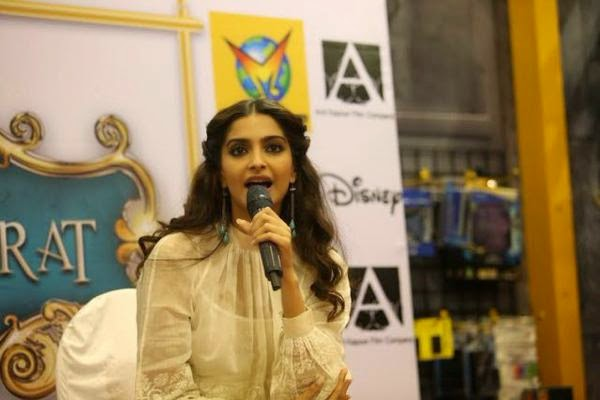 Sonam Kapoor launches the DVD of 'Khoobsurat' movie