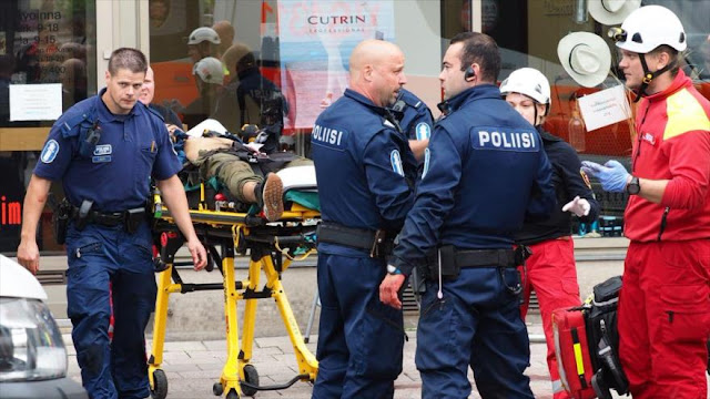 Doble atentado terrorista deja dos muertos en Finlandia