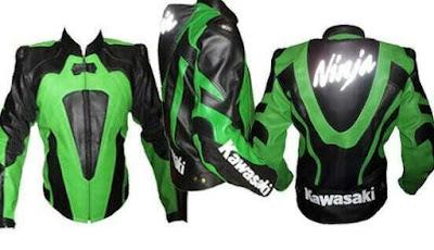 Gambar Jaket Kulit Kawasaki Ninja