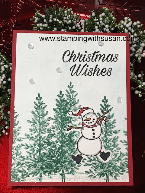 Stampin' Up!, Spirited Snowman, Stampin' Up! 2018 Holiday Catalog, www.stampingwithsusan.com, Lovely as a Tree