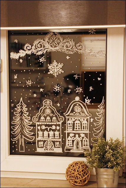 wicked faerie queen christmas chalk windowswho knew