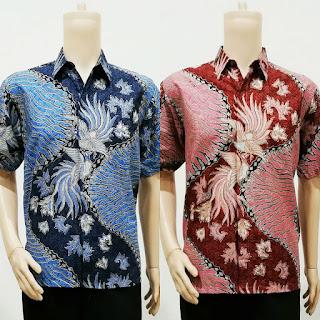 Baju Batik Pria Modern Daun Cendrawasih
