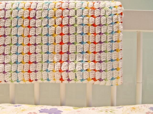 Mantita de Crochet Infantil. Puntos Patron