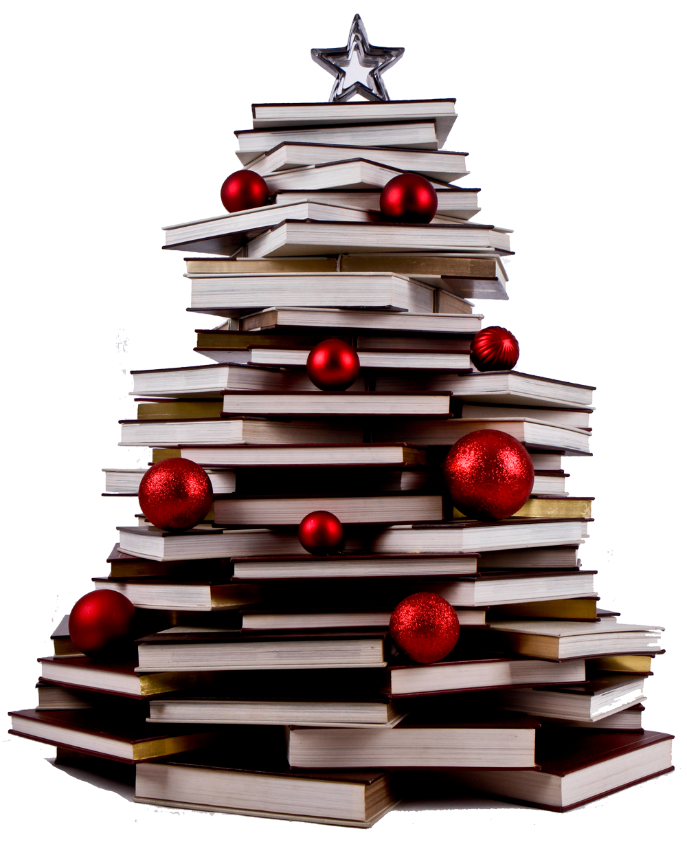Super Bookworm Girl: Christmas Tree Of Books