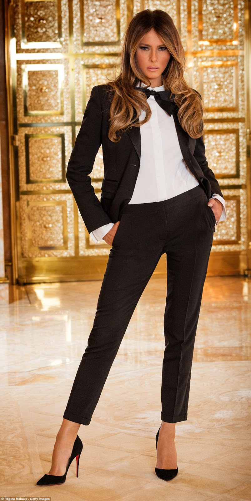 Melania o Letizia  ( sondeo ) US+First+Lady+Fashion+Model+Melania+Trum-Wife+of+US+President+Donal+Trump+%2848%29