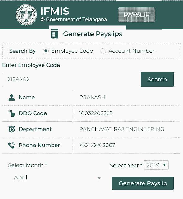 IFMIS Pay Slips