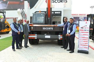 Escorts launches new range of construction equipment at  Bauma CONEXPO 2018