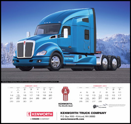 2018 Kenworth Trucks Wall Calendar