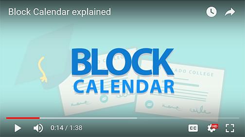 snapshot of video.  text: block calendar