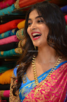 Puja Hegde looks stunning in Red saree at launch of Anutex shopping mall ~ Celebrities Galleries 055.JPG