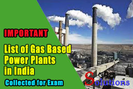 List of Gas Based Power plants in india
