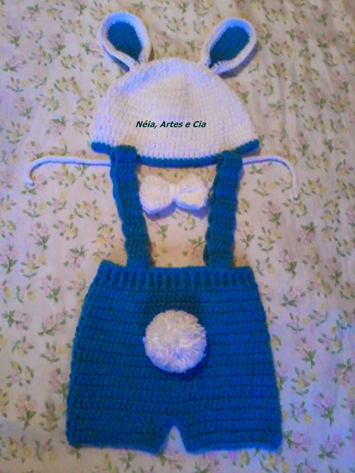 Receita Kit Coelho de crochê - Newborn e5780e6b332