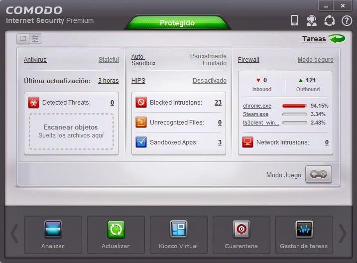 Mejor antivirus gratuito COMODO-Internet-Security