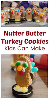 Adorable Turkey Cookies from Nutter Butters