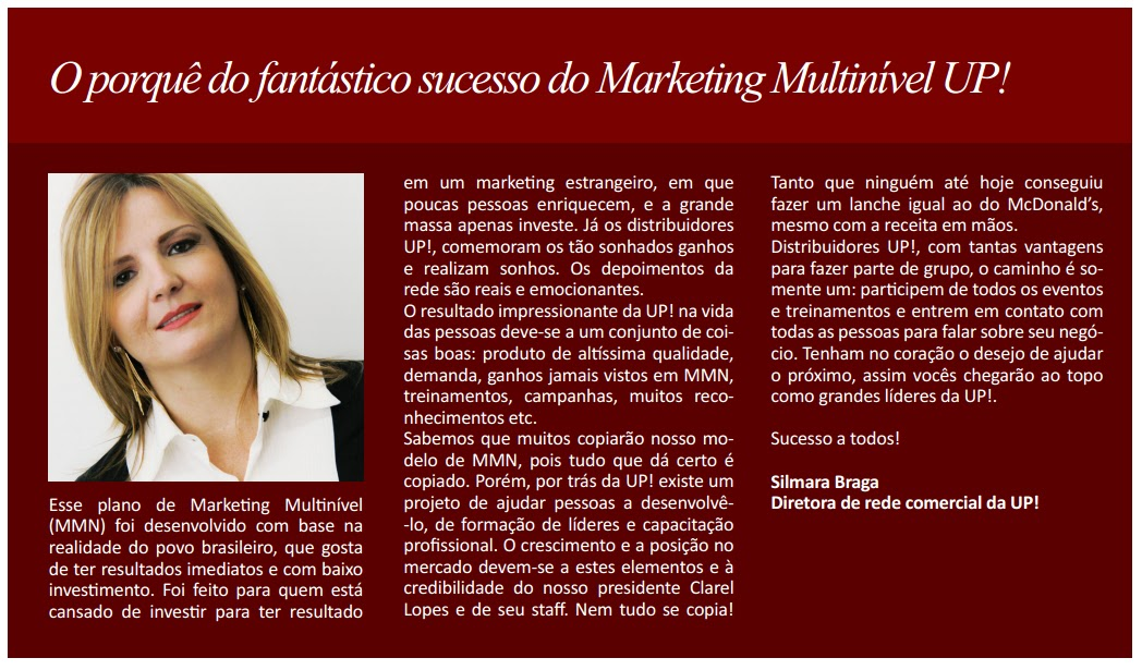 marketing multinível UP! Essência