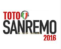 Logo TotoSanremo 2016 e vinci televisore 42'' e 40 compilation