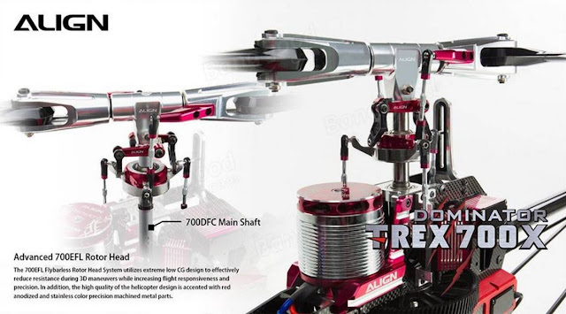 RC Helicopter Super Combo Align TREX 700X Dominator 7