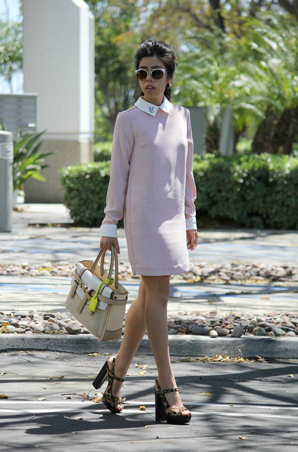 Adrienne Nguyen_Invictus_PInk Dress with White Collar_Bunny Dress-Pastel Dress-What to Wear for Easter