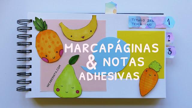 cómo hacer pósits, notas adhesivas, separadores, marcapáginas NICA BERNITA