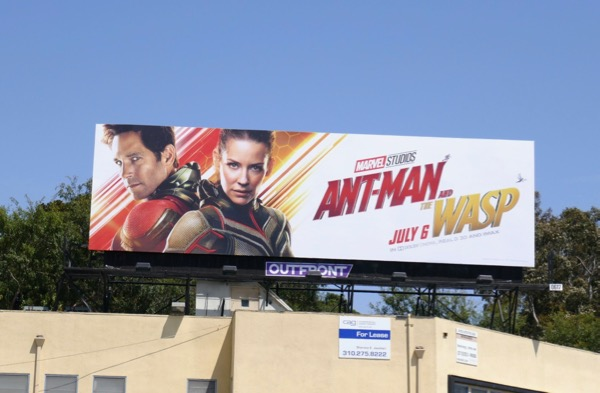 Ant-Man Wasp movie billboard
