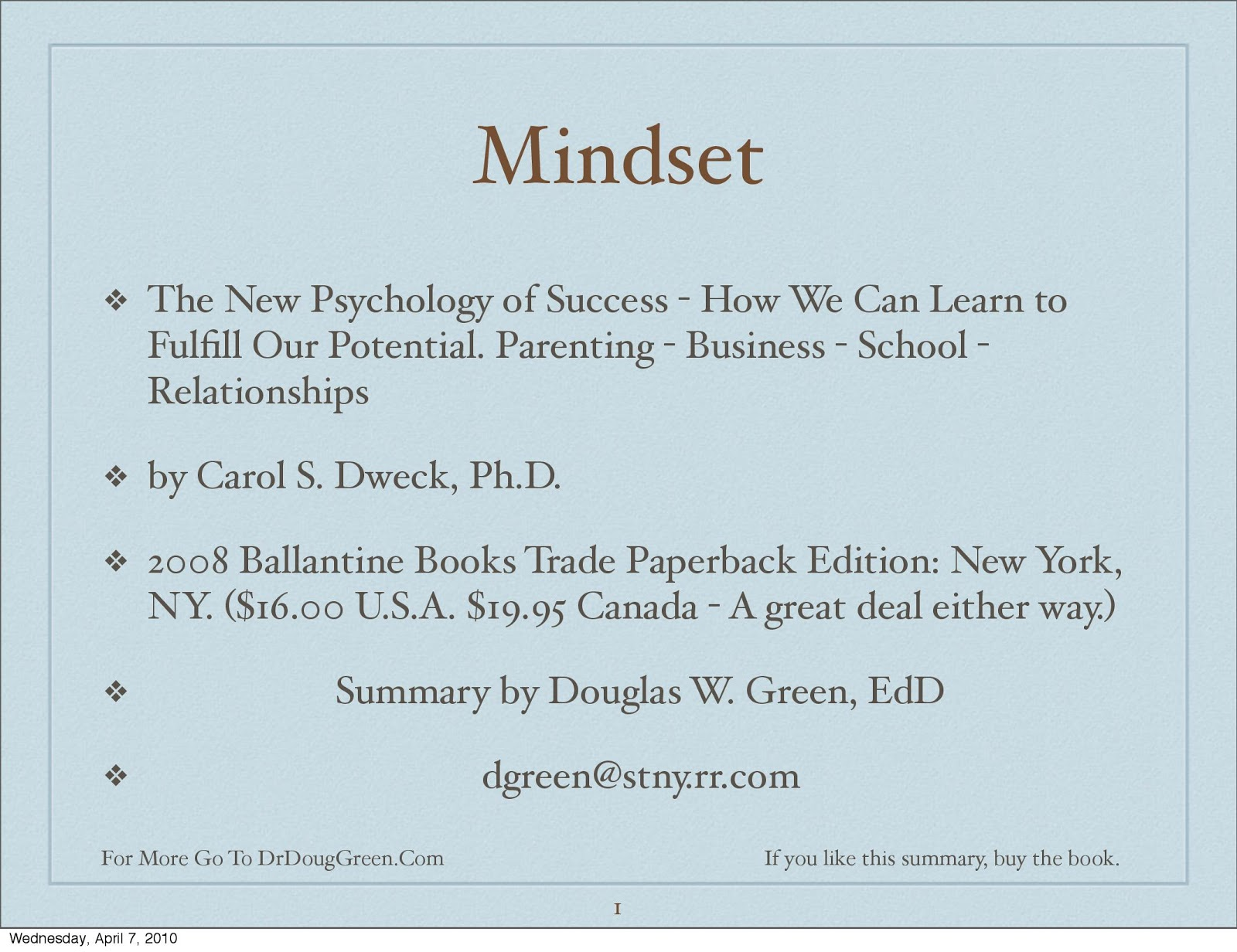 Free Download Or Read Online Mindset New Psychology Of Success Book By Carol Dweck