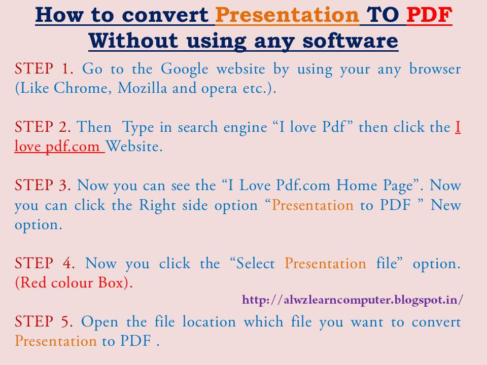 how to convert powerpoint to pdf online