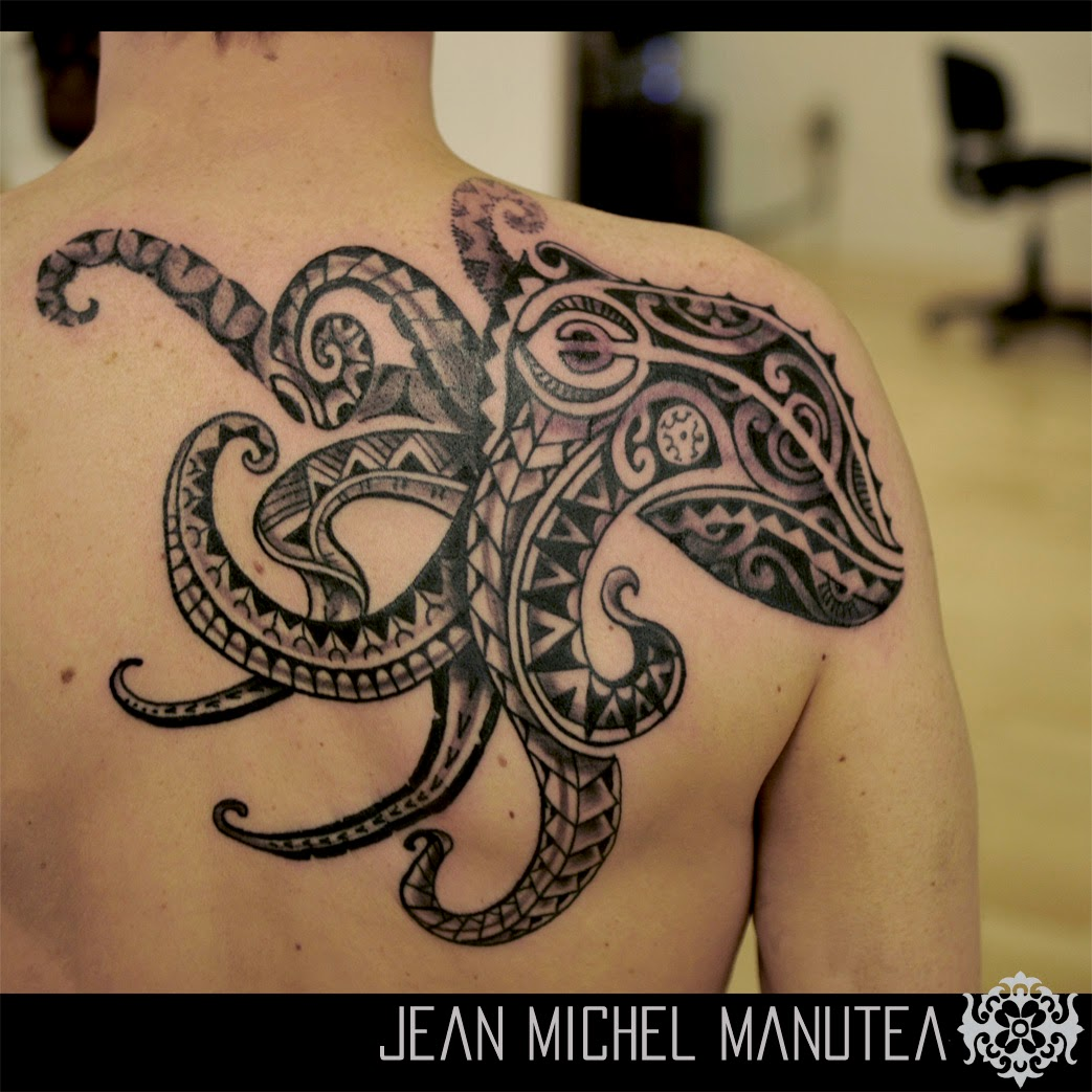 Tatouage Polynesien Polynesian Tattoo Octopus Tattoo