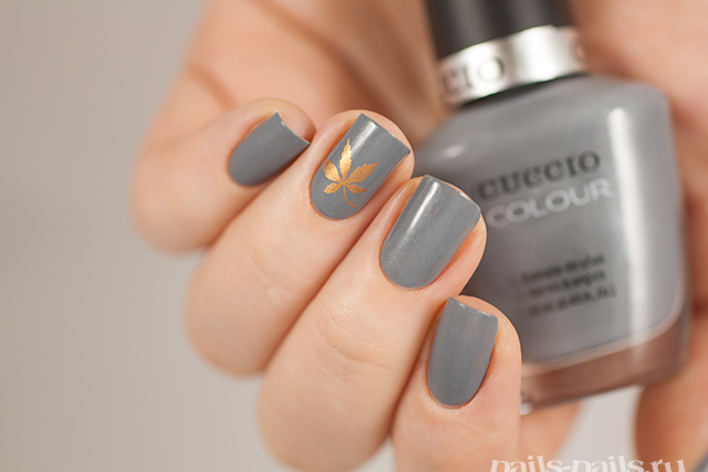Born pretty store blog perfect elegant nail designs for autumn this design is based one the grey color there is only one gold maple stamping leaf on nails i like the color combination very much very autumn prinsesfo Choice Image