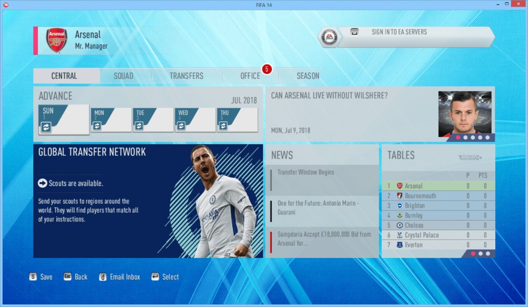 FIFA 14 MOD TO FIFA 19 NEW HBZ UPDATE WITH NEW DB AND SQUAD