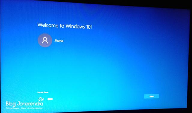 Instalasi Windows 10 selesai blog jonarendra