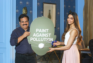 Asian Paints has unveiled leading actress Deepika Padukone for their innovative and eco-friendly product Royale Atmos.