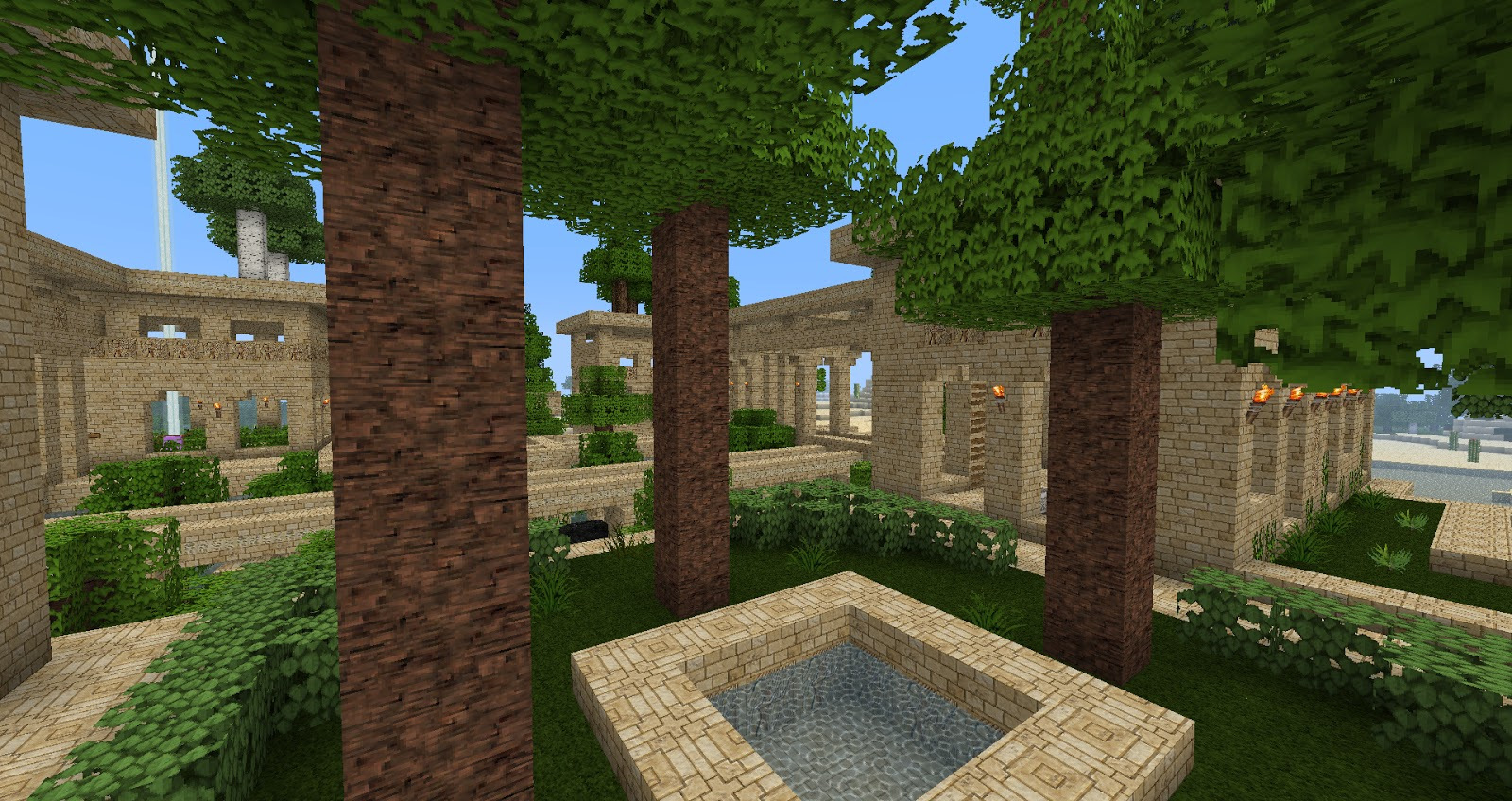 My Minecraft Constructions: Minecraft Hanging Gardens